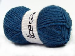 Lot of 4 x 100gr Skeins Ice Yarns MOHAIR BULKY (5% Mohair 10% Wool) Yarn Jeans Blue