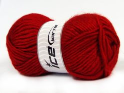 Lot of 4 x 100gr Skeins Ice Yarns MOHAIR BULKY (5% Mohair 10% Wool) Yarn Red