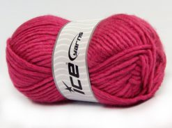 Lot of 4 x 100gr Skeins Ice Yarns MOHAIR BULKY (5% Mohair 10% Wool) Yarn Fuchsia