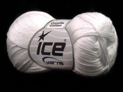Lot of 6 Skeins Ice Yarns CAMILLA COTTON (100% Mercerized Cotton) Yarn Optical White