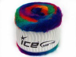 Lot of 2 x 150gr Skeins Ice Yarns CAKES FLUFFY (5% Mohair) Yarn Rainbow