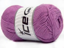 Lot of 4 x 100gr Skeins Ice Yarns NATURAL COTTON AIR (100% Cotton) Yarn Dark Lilac