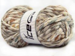 Lot of 4 x 100gr Skeins Ice Yarns ASTORIA (25% Wool) Yarn Cream Shades Brown Shades