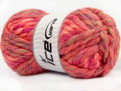 Lot of 4 x 100gr Skeins Ice Yarns ASTORIA (25% Wool) Yarn Salmon Shades Lilac Shades Camel