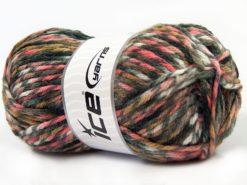 Lot of 4 x 100gr Skeins Ice Yarns THOR (25% Wool) Yarn Black Grey White Brown Pink