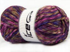 Lot of 4 x 100gr Skeins Ice Yarns THOR (25% Wool) Yarn Purple Shades Camel Shades