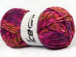Lot of 4 x 100gr Skeins Ice Yarns THOR (25% Wool) Yarn Purple Shades Salmon
