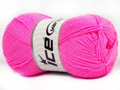 Lot of 4 x 100gr Skeins Ice Yarns WAYUU Hand Knitting Yarn Candy Pink