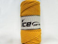 250 gr ICE YARNS COTTON ROPE (100% Cotton) Hand Knitting Yarn Dark Yellow