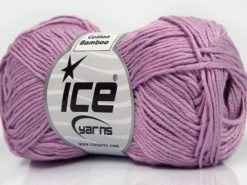 Lot of 8 Skeins Ice Yarns COTTON BAMBOO (50% Bamboo 50% Cotton) Yarn Pink