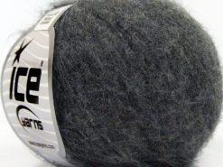 Lot of 10 Skeins Ice Yarns SUPERKID MOHAIR COMFORT (41% SuperKid Mohair 11% Merino Wool) Yarn Dark Grey
