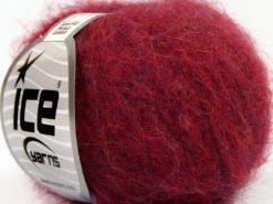 Lot of 10 Skeins Ice Yarns SUPERKID MOHAIR COMFORT (41% SuperKid Mohair 11% Merino Wool) Yarn Dark Fuchsia