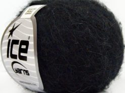 Lot of 10 Skeins Ice Yarns SUPERKID MOHAIR COMFORT (41% SuperKid Mohair 11% Merino Wool) Yarn Anthracite Black Navy