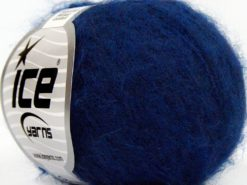 Lot of 10 Skeins Ice Yarns SUPERKID MOHAIR COMFORT (41% SuperKid Mohair 11% Merino Wool) Yarn Blue