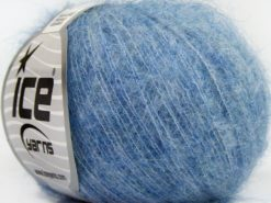 Lot of 10 Skeins Ice Yarns SUPERKID MOHAIR COMFORT (41% SuperKid Mohair 11% Merino Wool) Yarn Blue Light Blue