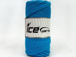 250 gr ICE YARNS COTTON ROPE (100% Cotton) Hand Knitting Yarn Turquoise