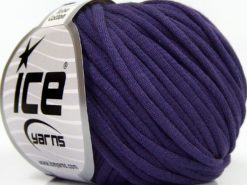 Lot of 8 Skeins Ice Yarns TUBE COTTON (70% Cotton) Hand Knitting Yarn Purple