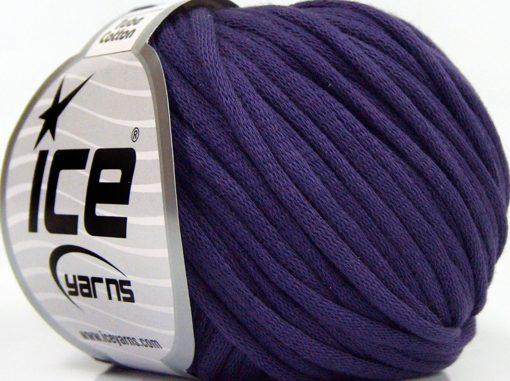 Lot of 8 Skeins Ice Yarns TUBE COTTON (70% Cotton) Hand Knitting Yarn Purple