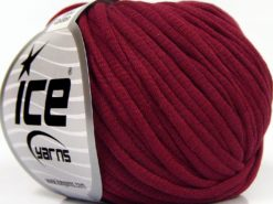Lot of 8 Skeins Ice Yarns TUBE COTTON (70% Cotton) Hand Knitting Yarn Burgundy