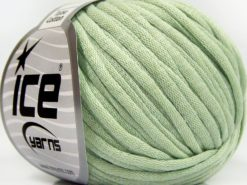 Lot of 8 Skeins Ice Yarns TUBE COTTON (70% Cotton) Yarn Light MintGreen