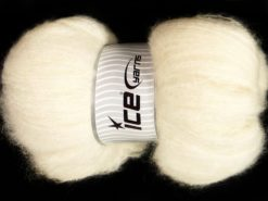 300 gr ICE YARNS SALE LUXURY-PREMIUM (41% Alpaca Superfine 41% Kid Mohair) Yarn Ecru
