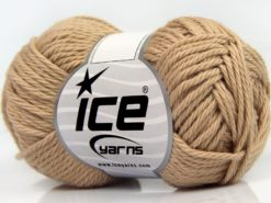Lot of 8 Skeins Ice Yarns PURE COTTON (100% Cotton) Hand Knitting Yarn Beige