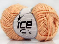 Lot of 8 Skeins Ice Yarns PURE COTTON (100% Cotton) Yarn Light Salmon
