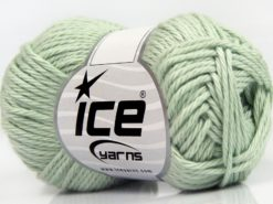 Lot of 8 Skeins Ice Yarns PURE COTTON (100% Cotton) Yarn Mint Green