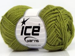 Lot of 8 Skeins Ice Yarns PURE COTTON (100% Cotton) Yarn Light Green