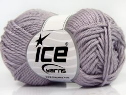 Lot of 8 Skeins Ice Yarns PURE COTTON (100% Cotton) Yarn Light Lilac