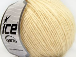 Lot of 8 Skeins Ice Yarns LEONARDO (66% Merino Wool 34% Organic Cotton) Yarn Cream