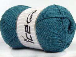 Lot of 4 x 100gr Skeins Ice Yarns LORENA (50% Cotton) Yarn Turquoise