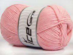 Lot of 4 x 100gr Skeins Ice Yarns LORENA (50% Cotton) Yarn Baby Pink