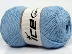 Lot of 4 x 100gr Skeins Ice Yarns NATURAL COTTON (100% Cotton) Yarn Baby Blue