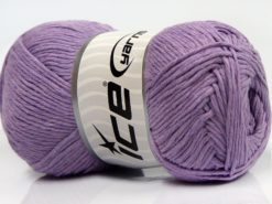 Lot of 4 x 100gr Skeins Ice Yarns NATURAL COTTON (100% Cotton) Yarn Light Lilac