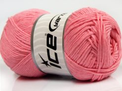Lot of 4 x 100gr Skeins Ice Yarns NATURAL COTTON (100% Cotton) Yarn Pink