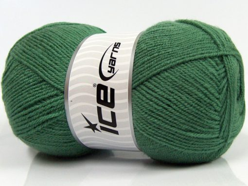 Lot of 4 x 100gr Skeins Ice Yarns SUPER BABY Hand Knitting Yarn Grass Green