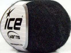Lot of 10 Skeins Ice Yarns CARESS BABY ALPACA (30% Baby Alpaca 31% Extrafine Merino Wool) Yarn Anthracite Black