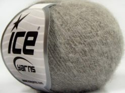 Lot of 10 Skeins Ice Yarns CARESS BABY ALPACA (30% Baby Alpaca 31% Extrafine Merino Wool) Yarn Grey