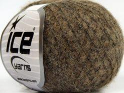 Lot of 10 Skeins Ice Yarns CARESS BABY ALPACA (30% Baby Alpaca 31% Extrafine Merino Wool) Yarn Light Brown