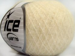 Lot of 10 Skeins Ice Yarns CARESS BABY ALPACA (30% Baby Alpaca 31% Extrafine Merino Wool) Yarn Light Cream