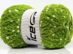Lot of 4 x 100gr Skeins Ice Yarns PUFFY POMPOM (85% MicroFiber) Yarn Green