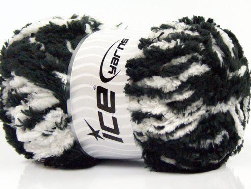 Lot of 4 x 100gr Skeins Ice Yarns PANDA DUO (100% MicroFiber) Yarn Black White