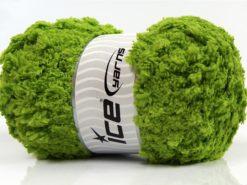 Lot of 4 x 100gr Skeins Ice Yarns PUFFY POPCORN (100% MicroFiber) Yarn Grass Green