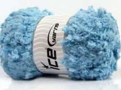 Lot of 4 x 100gr Skeins Ice Yarns PUFFY POPCORN (100% MicroFiber) Yarn Baby Blue