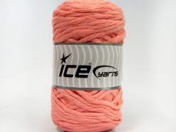 Lot of 2 x 200gr Skeins Ice Yarns NATURAL COTTON CHUNKY (100% Cotton) Yarn Light Salmon
