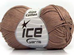 Lot of 6 Skeins Ice Yarns GIZA COTTON Hand Knitting Yarn Camel
