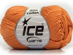 Lot of 6 Skeins Ice Yarns GIZA COTTON Hand Knitting Yarn Light Orange