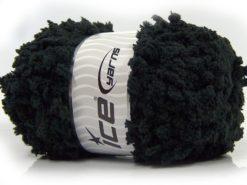 Lot of 4 x 100gr Skeins Ice Yarns PUFFY POPCORN (100% MicroFiber) Yarn Black