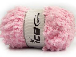 Lot of 4 x 100gr Skeins Ice Yarns PUFFY POPCORN (100% MicroFiber) Yarn Baby Pink